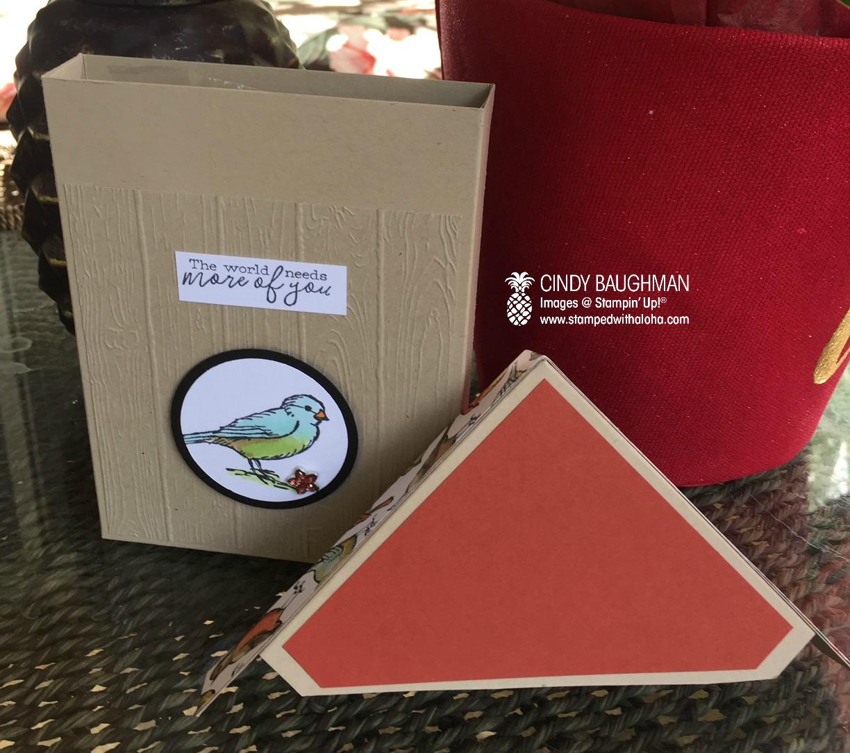 Bird Ballad Card Box (open)