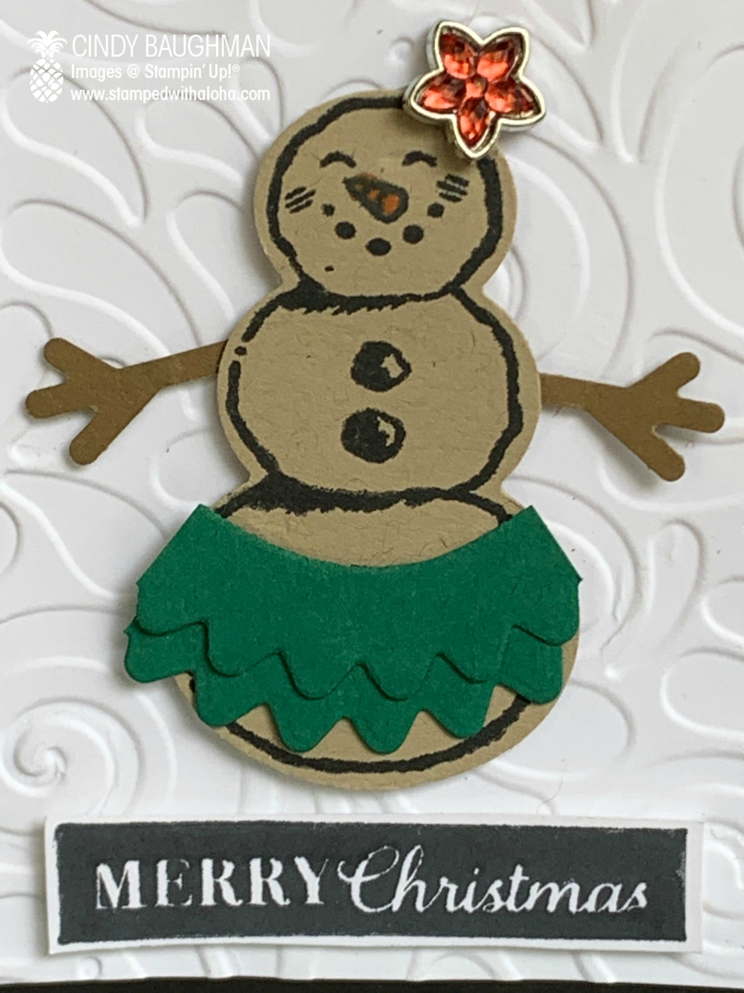 Hula Snowman Card