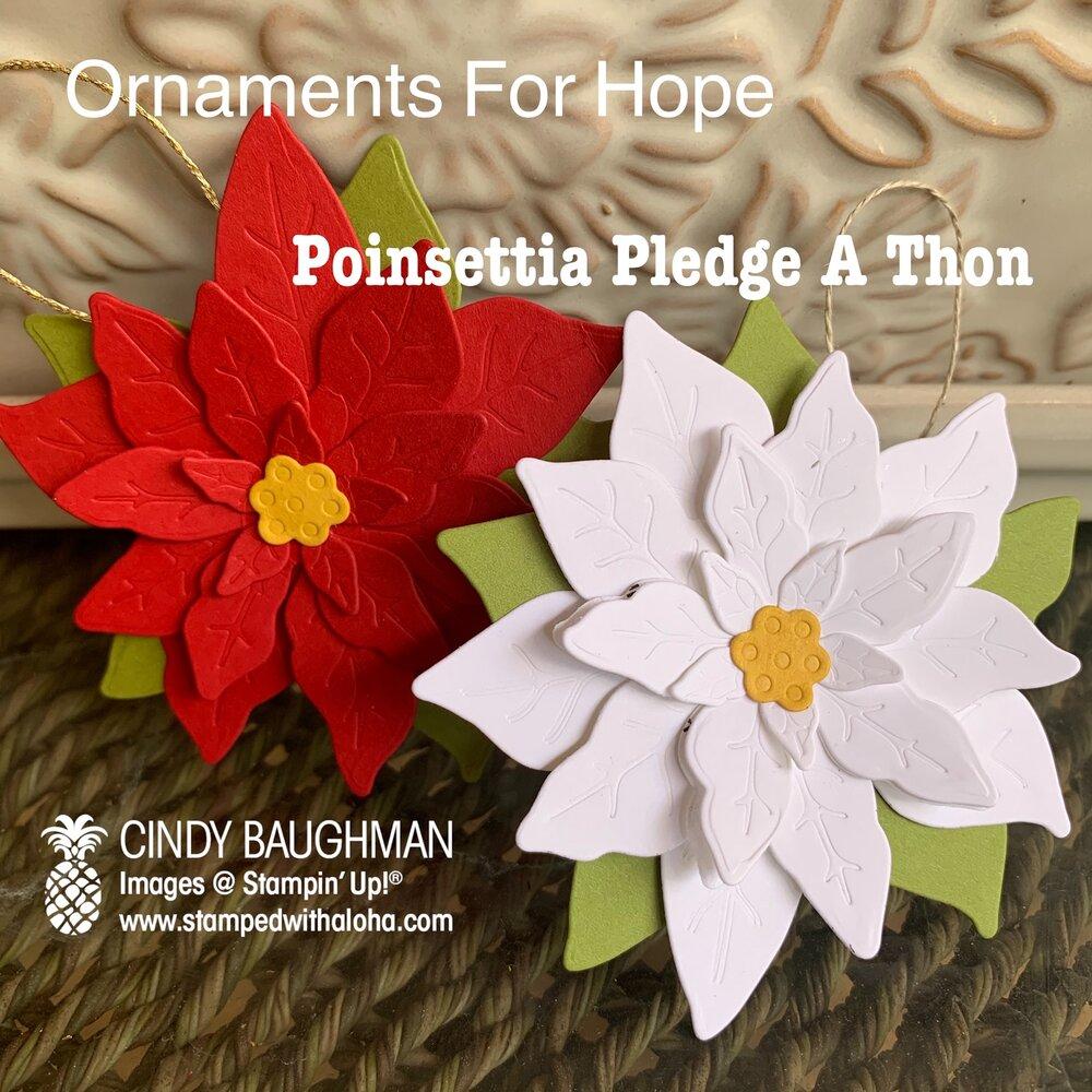 Poinsettia Ornaments for HOPE LODGE