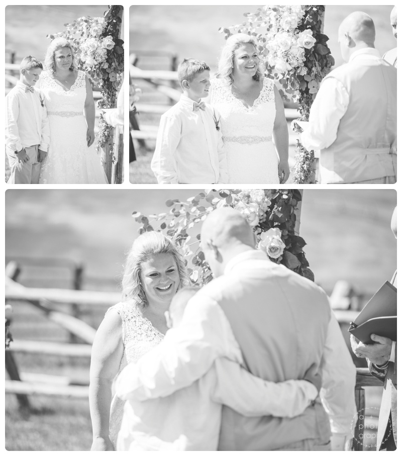 There are always special and moving moments during the wedding ceremony. But this one really takes the cake. When Ben said his vows to Gus, Bridget's son. Not a dry eye in the house and I have no doubt that Ben is the perfect guide to becoming a gentleman.