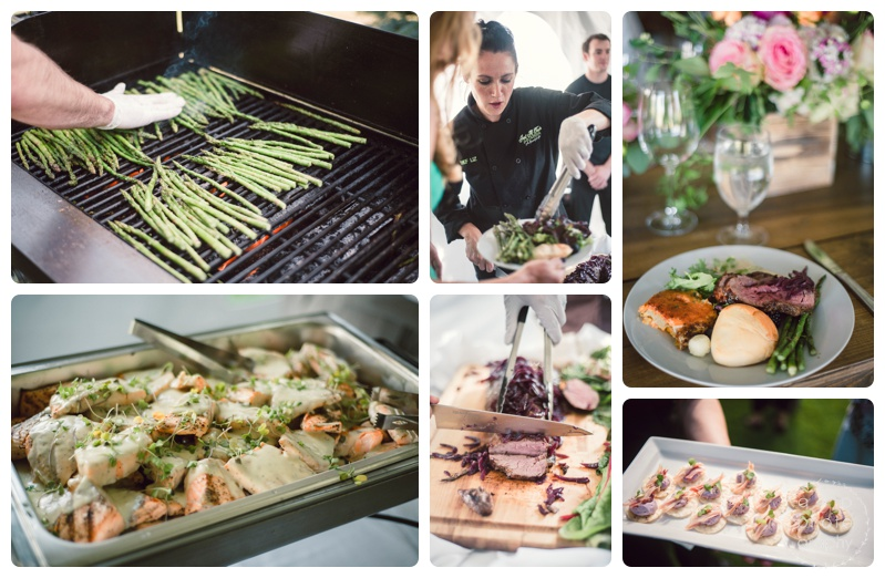 Just a Taste Catering  put out some spectacular (and delicious) food. Not to mention Chef Liz rocking the wedding planning/event design end of things as well. Talk about a talented person to have on your team!