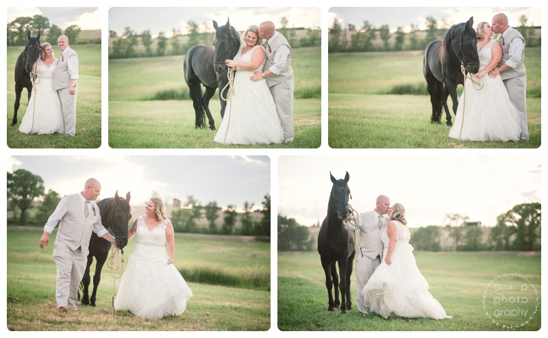 Loved that Ben and Bridget were willing to incorporate Bridget's horses into the photos for the day. So striking and gorgeous and simply MONTANA.