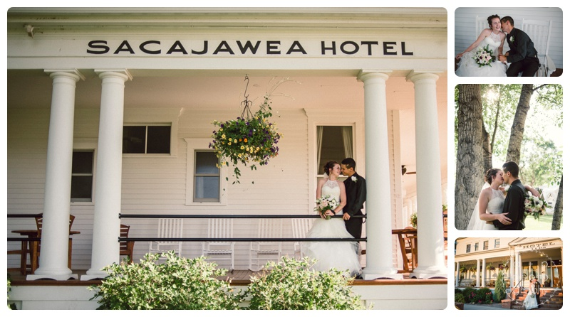 Sacajawea Hotel was the perfect vintage venue for their wedding. So many beautiful places for photos.