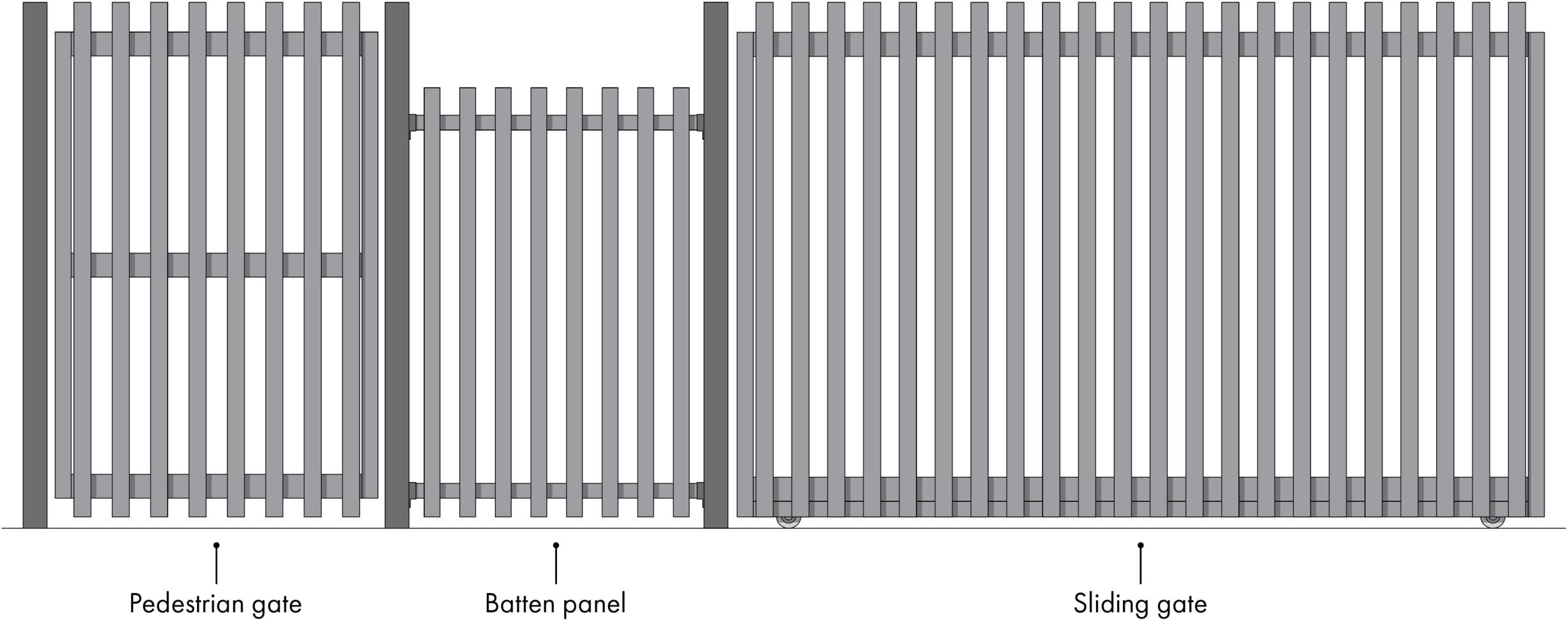 Aluminium battens — Glass Outlet