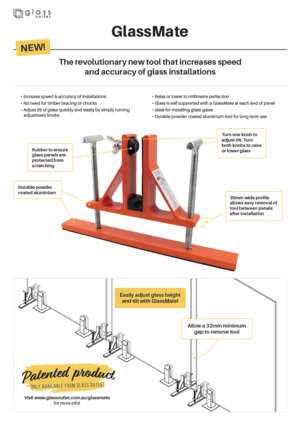 GlassMate installation tool
