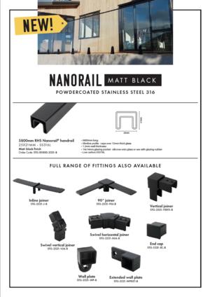Matt black Nanorail