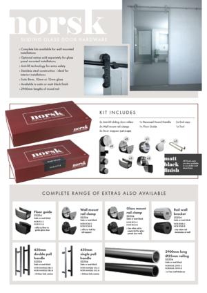 Norsk sliding shower hardware