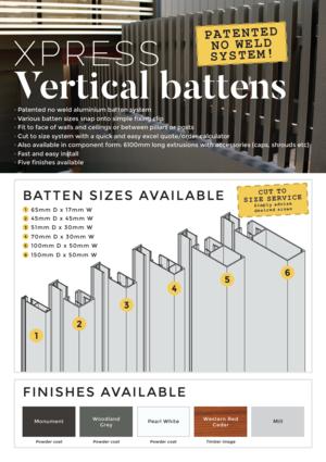 Xpress vertical battens