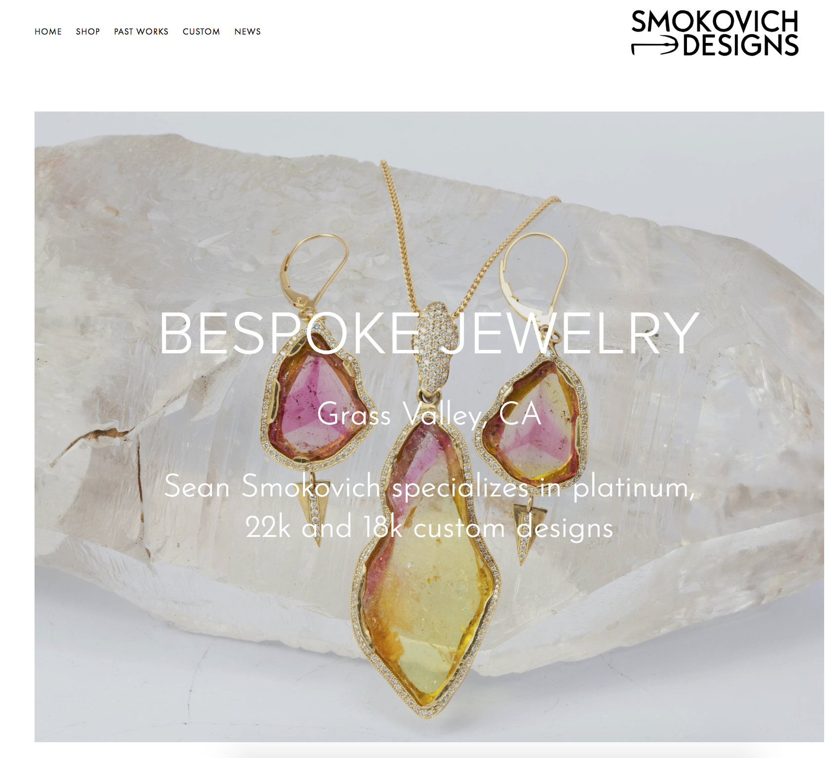 SMOKOVICH DESIGNS | FINE JEWELRY   On-going branding/consulting, photography, and web-design