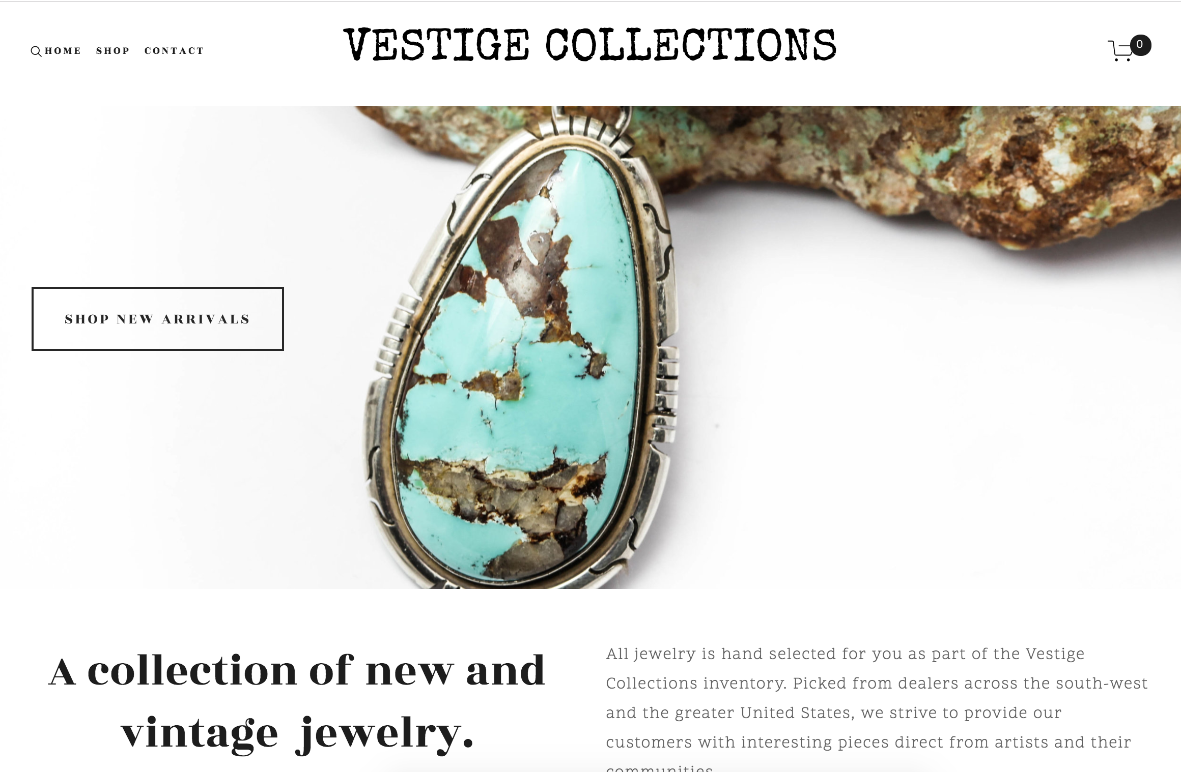 VESTIGE COLLECTIONS | JEWELRY   Web-design, logo/business card design, and product photography
