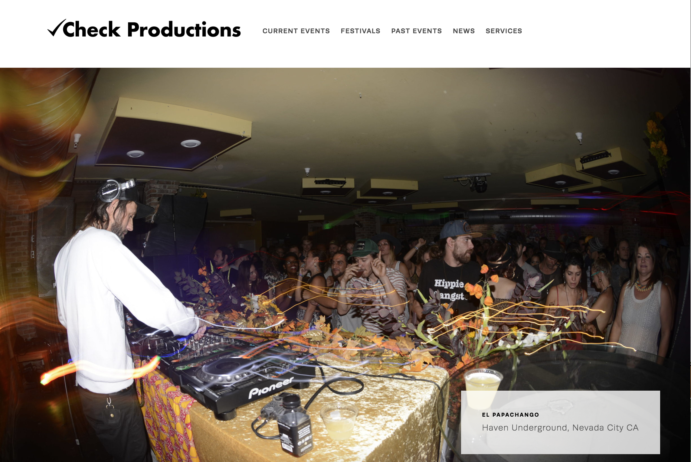 CHECK EVENT PRODUCTIONS | EVENTS   Web design, logo design