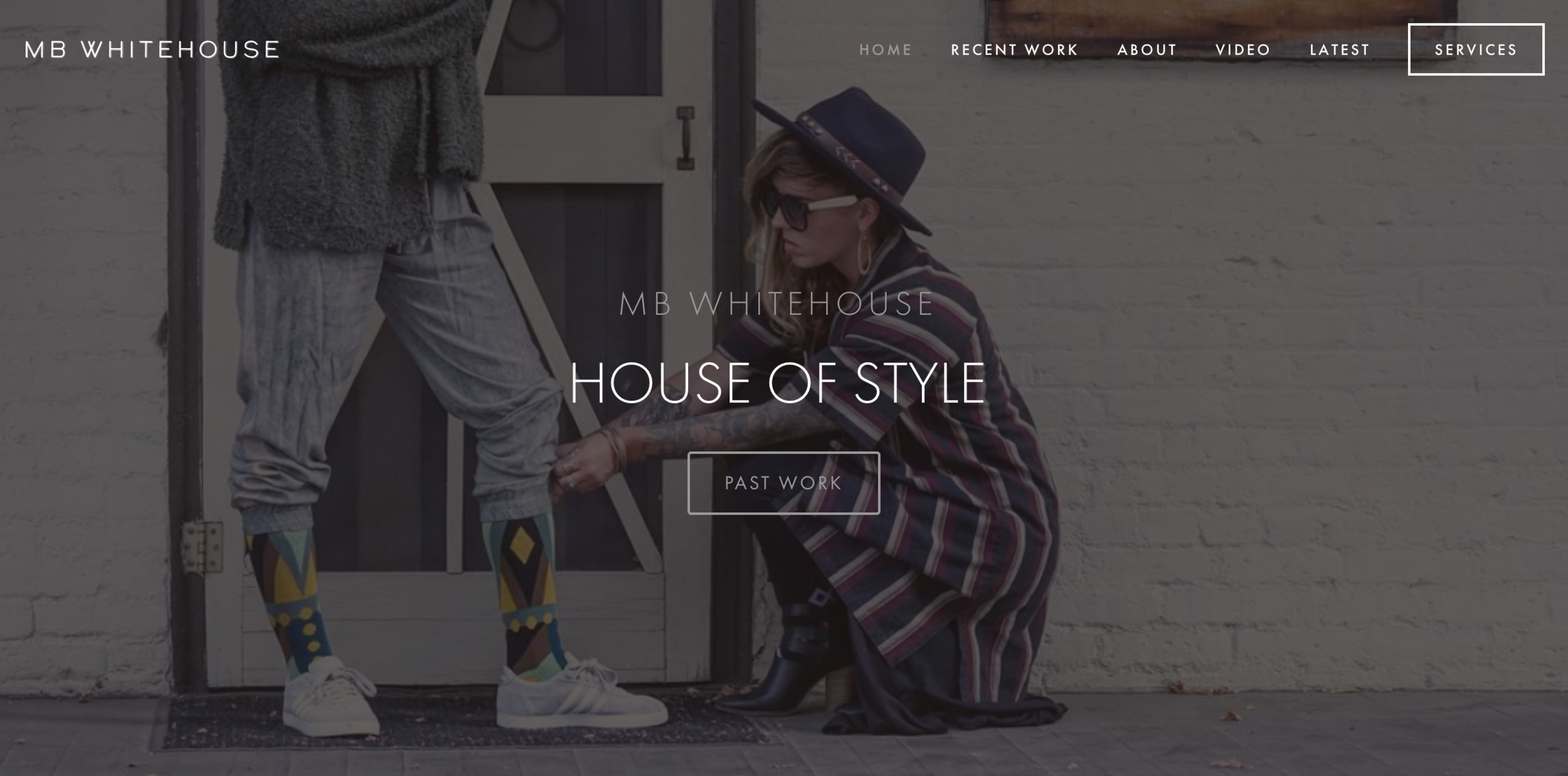 MB WHITEHOUSE | STYLIST   Website design, and layout