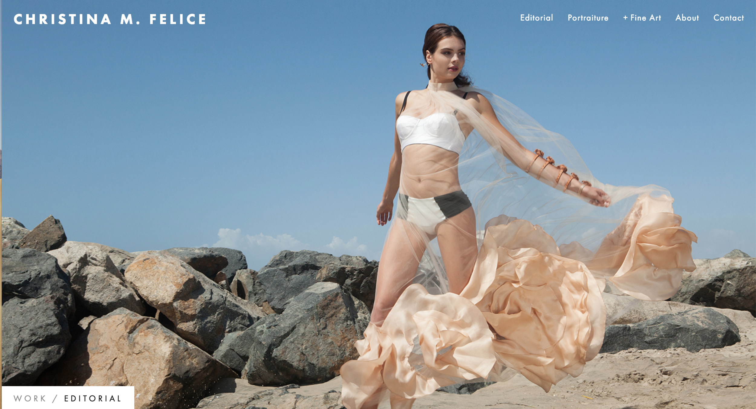 CHRISTINA M. FELICE | PHOTOGRAPHY AND FINE ART   Website design and format