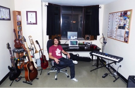 Where The Music Is Made: Rob McAllister's studio in Toronto, Canada. Preferred mic: AKG C214 Favorite pre-amp: Apogee Duet 2 Go-to sample library: I regularly use a lot of the instruments from the East West collection, like Hollywood Strings and Stormdrum 2. I also use instruments from Komplete 9 Ultimate. I recently purchased REV by Output and love finding cool new reversed sounds to feature or to layer into tracks. Other specs: Macbook Pro, Logic 9