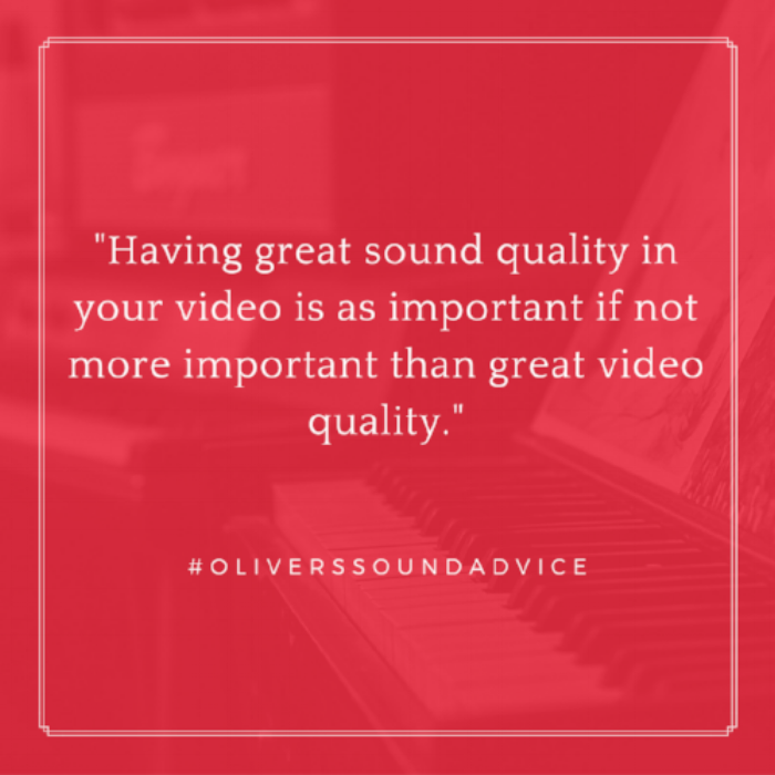 #OliversSoundAdvice