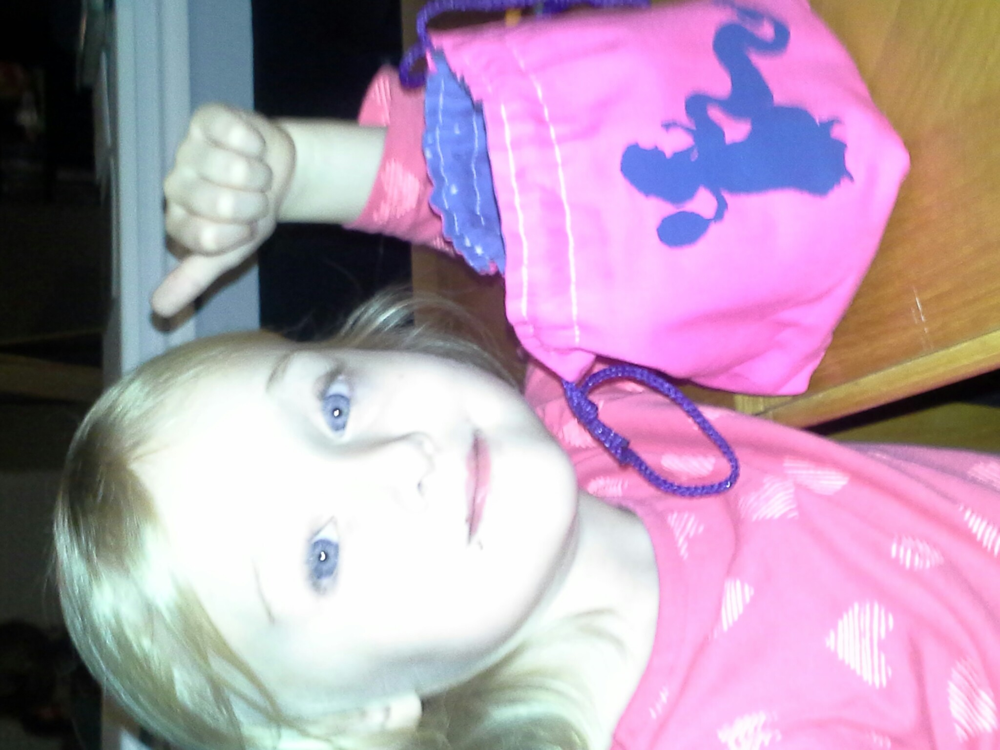 Daughter with her first dice bag (custom from www.etsy.com/shop/greyedout ) on her 5th birthday