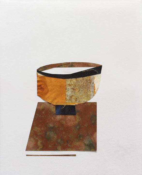"""Teabowl w Rim, Mix Media on Paper, 10""""x11"""", 2009"""