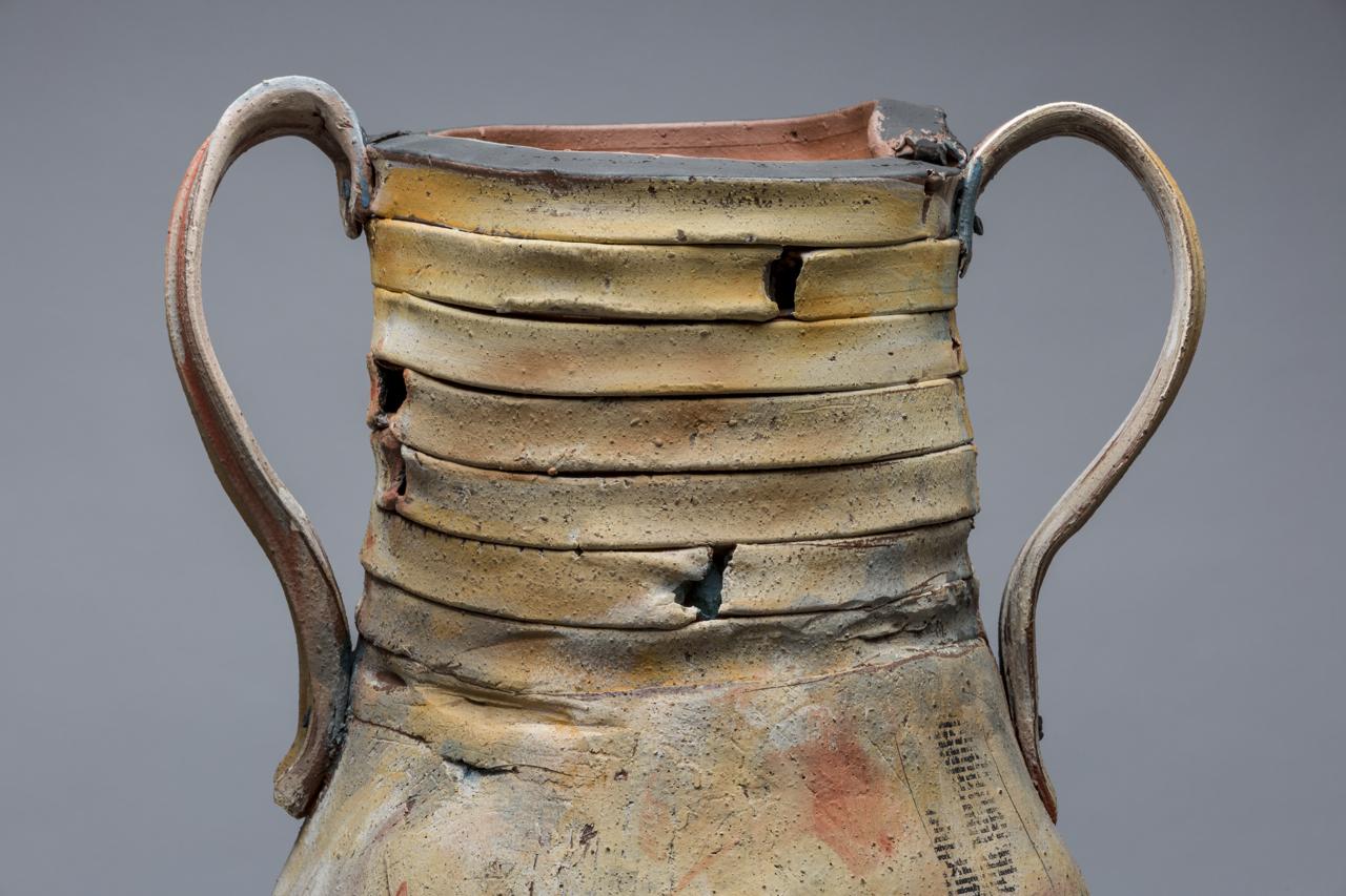 "(Detail) Trophy: Grace (Hartigan), 30""x24"" diameter, 2017"