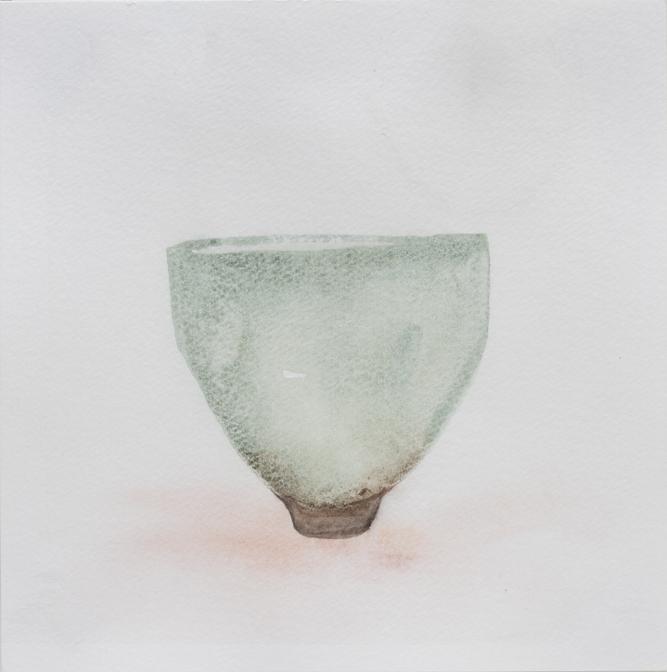 "Teabowl, Celadon, 8""x8"", 2016"