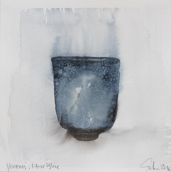 """Yunomi, FlowBlue, 8""""x8"""", 2016"""