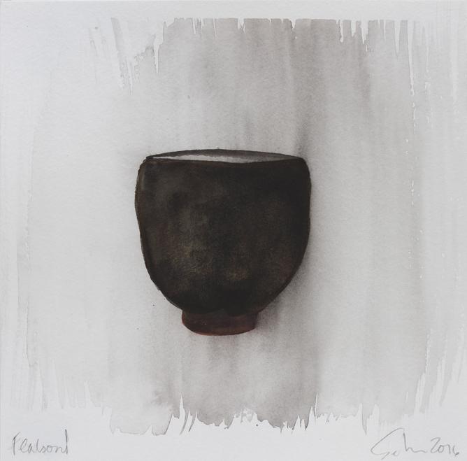 "Teabowl, Pete's Black, 8""x8"", 2016"