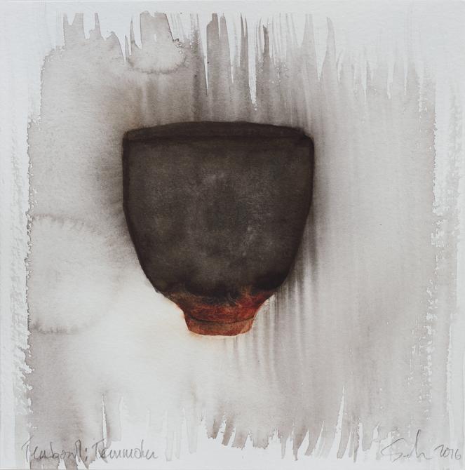 """Teabowl, Tenmoku Glaze, 8""""x8"""", 2016"""