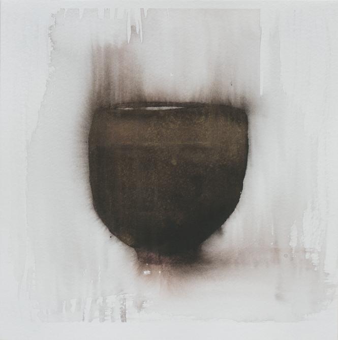 """Teabowl, Tenmoku Glaze 2, 8""""x8"""", 2016"""