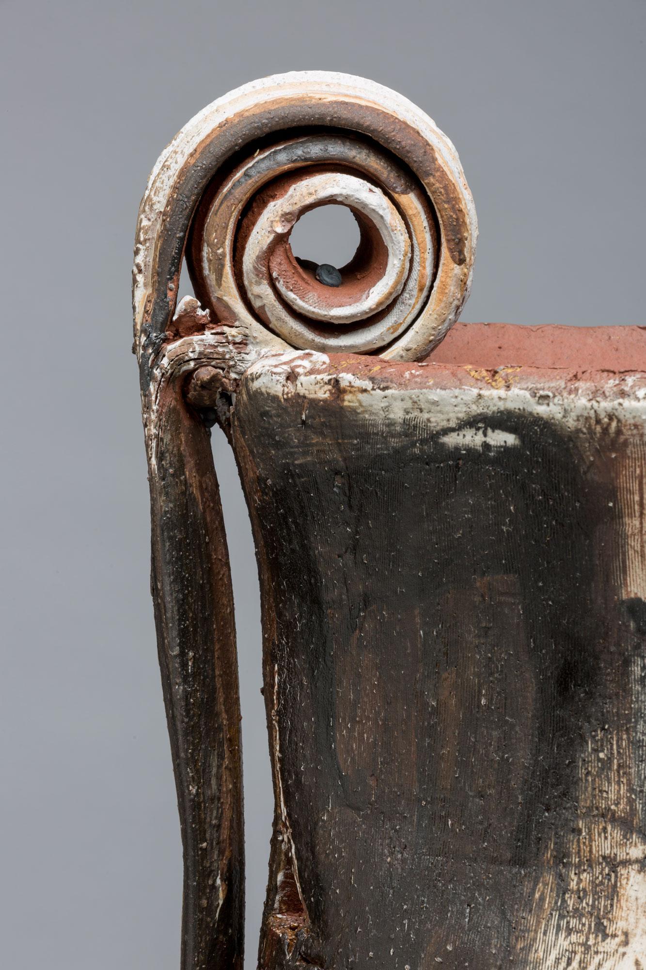 """(Detail) Trophy: Sonia (Getchoff), 24"""" x 30"""" diameter, 2017"""