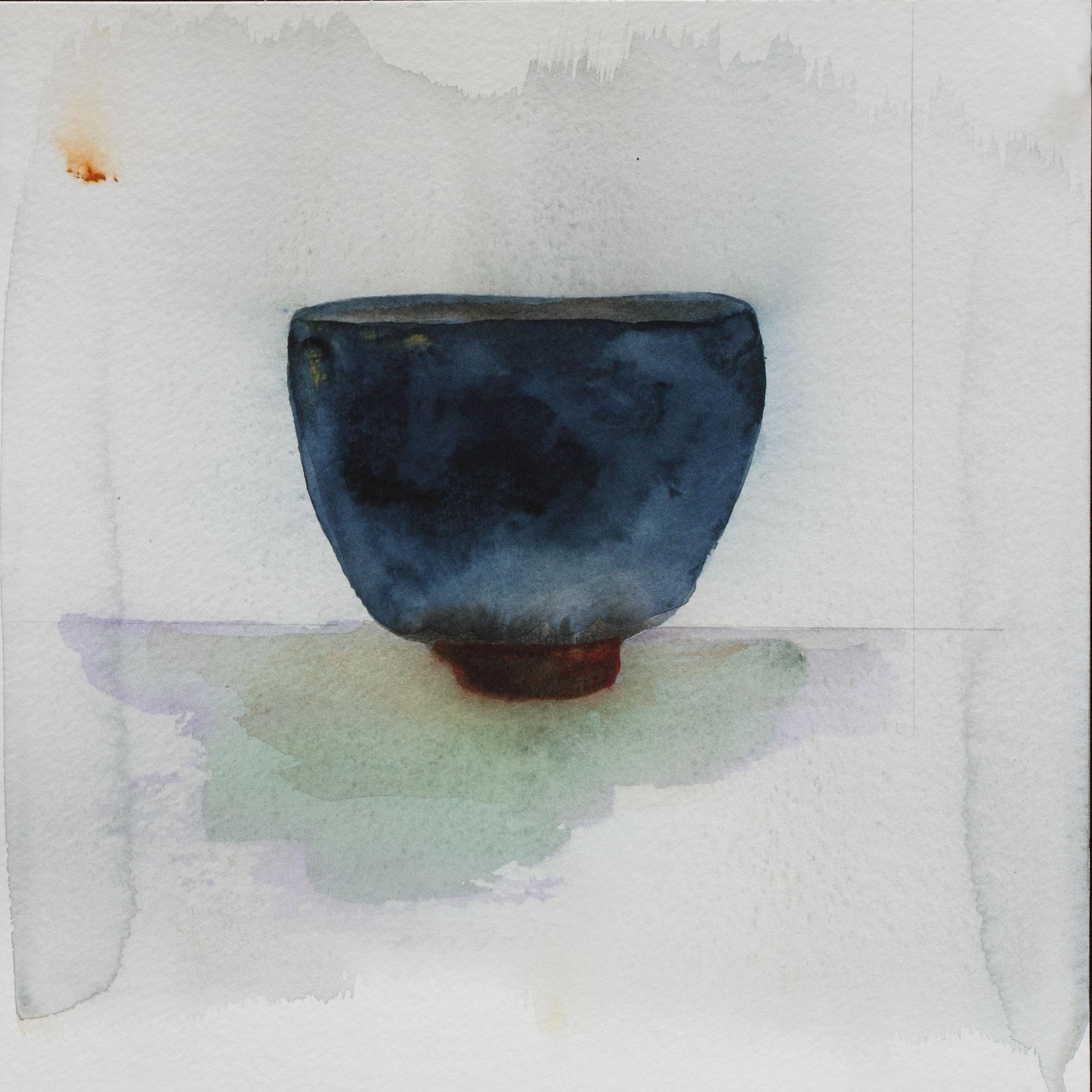 "Teabowl, Kwai Cobalt, 8"" x 8"", 2017"