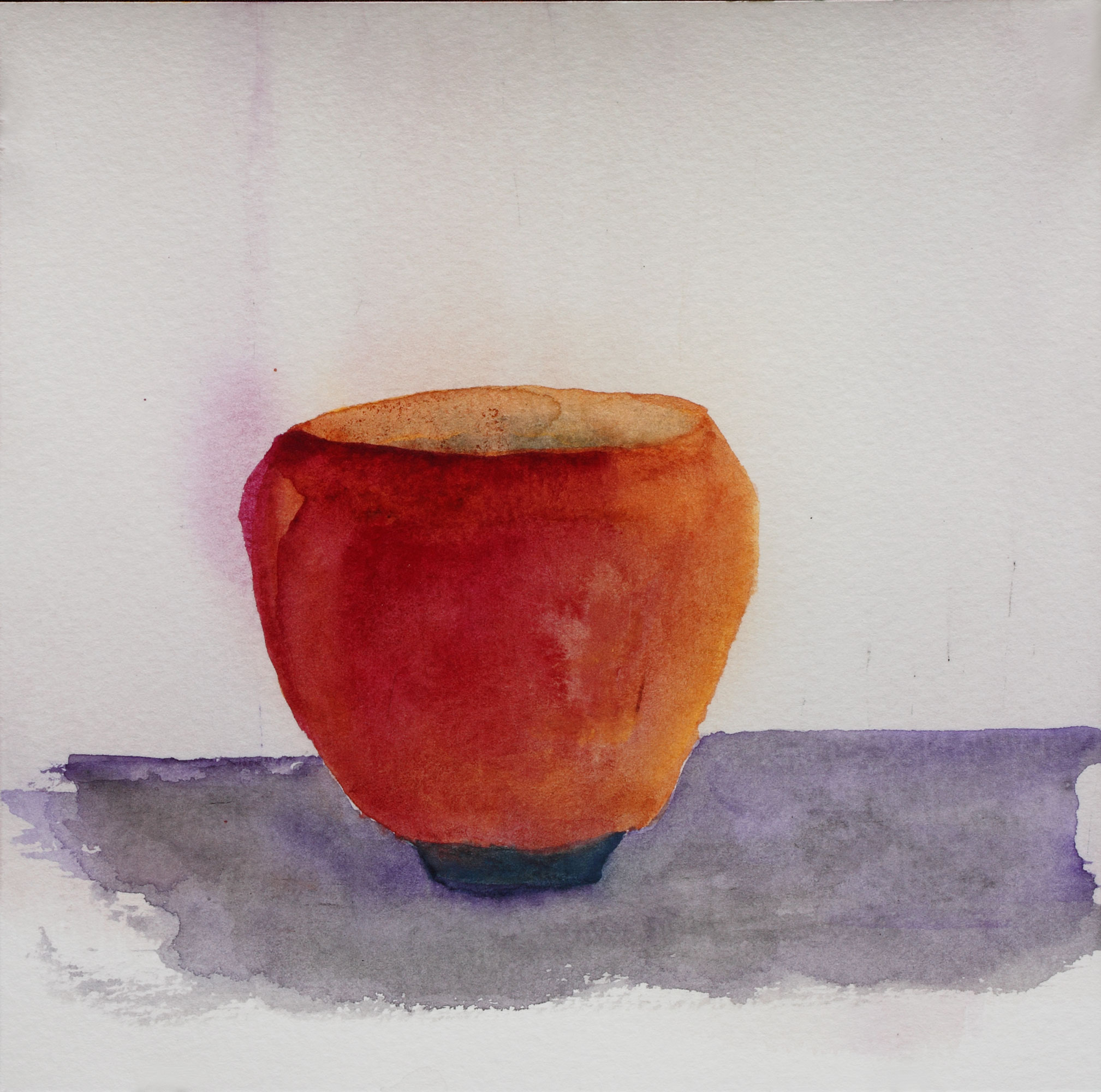 """Teabowl, Shaner Orange, 8"""" x 8"""", 2017"""