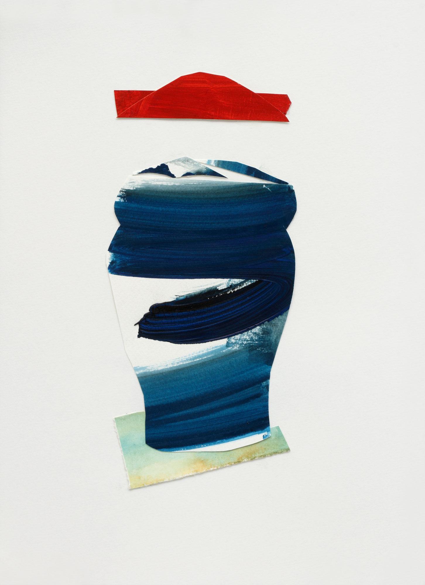 """Dark Blue Vase, 9"""" x 13"""", 2017"""