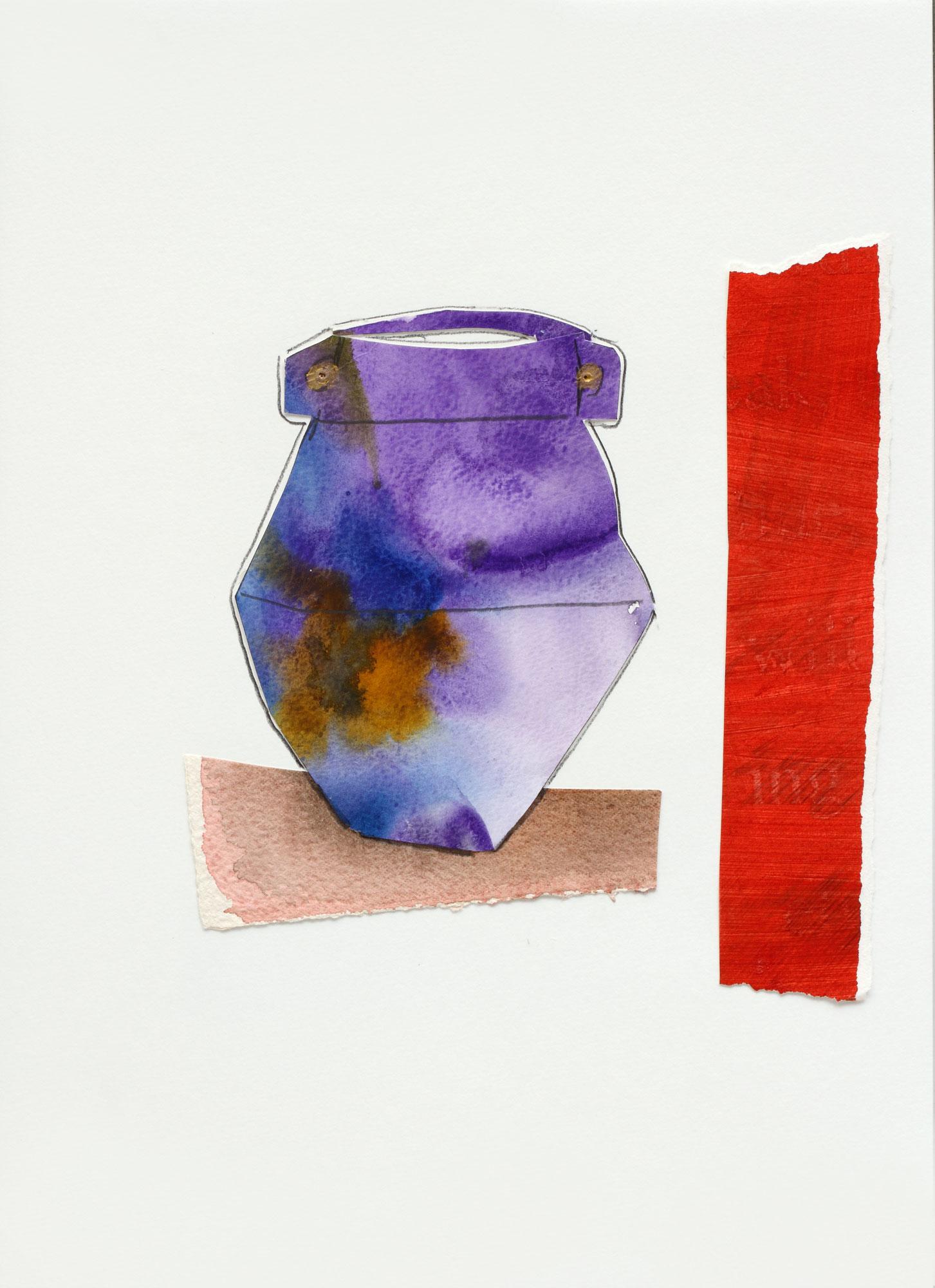 "Vase with Purple Glaze, 9"" x 13"", 2017"