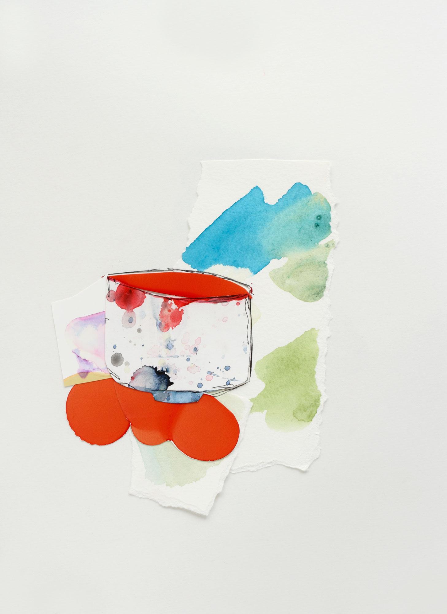 "Teabowl with Splash, 9"" x 13"", 2017"