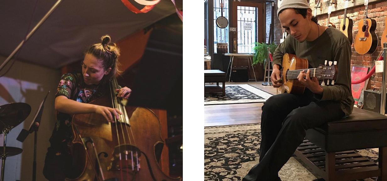 L-R : Kelsey Mines (bass), Carlos Snaider (guitar)