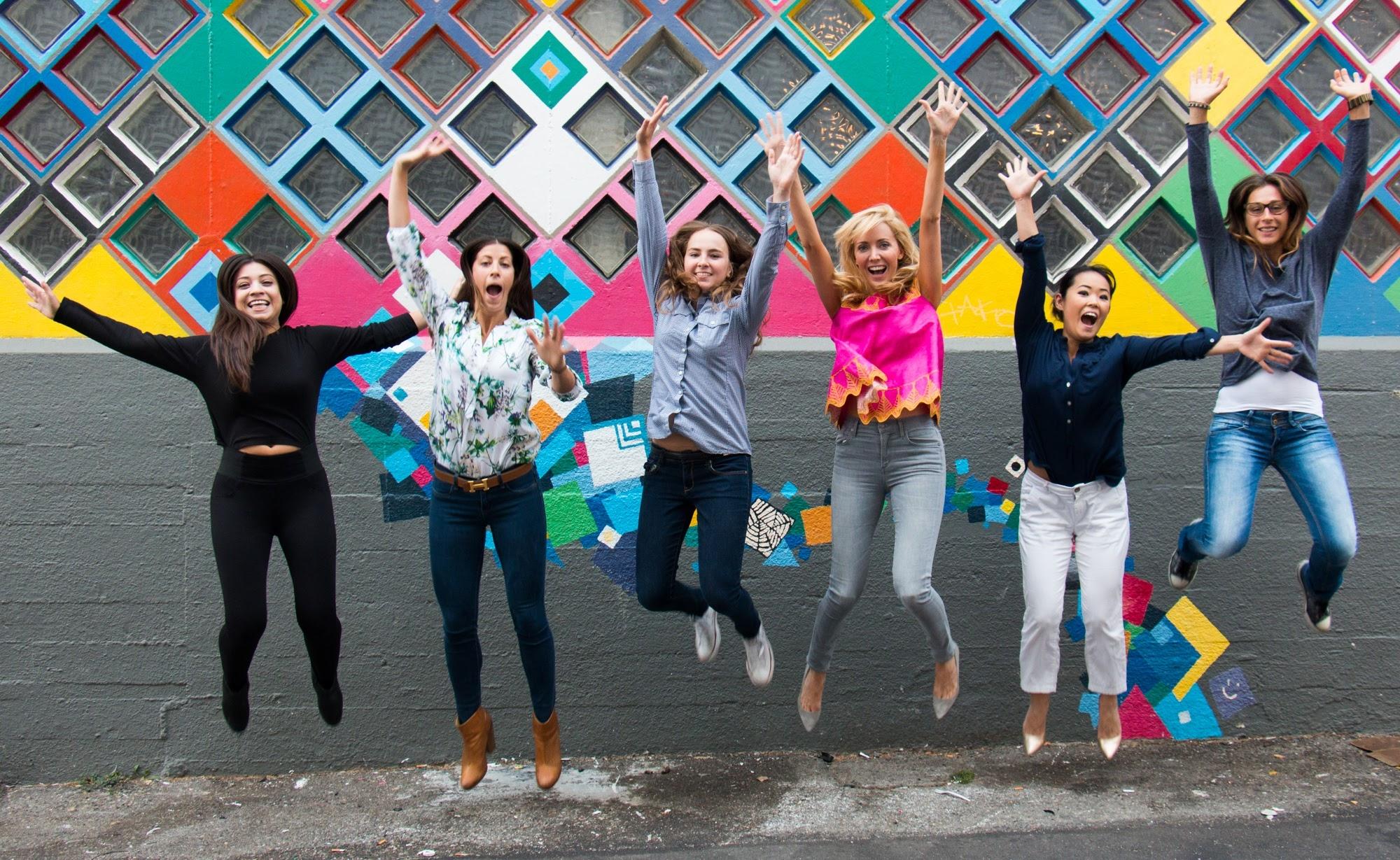 Suz Somersall (in pink) and the KiraKira team