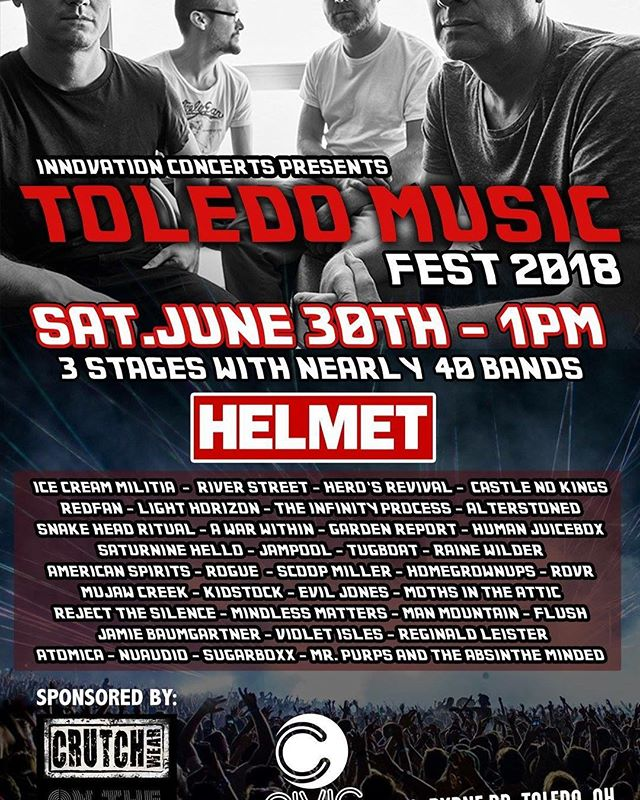 Melting faces... literally. Catch us at the heat index.. I mean music fest tomorrow #toledomusic #toledomusicfest