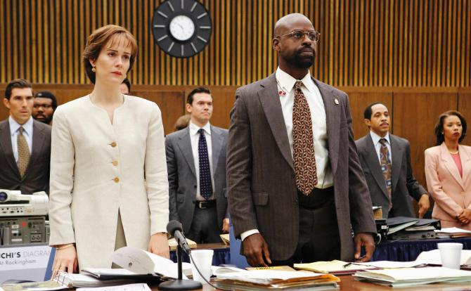 Sarah Paulson as Marcia Clark and Sterling K. Brown as Christopher Darden in FX's The People v. O.J. Simpson. Photo Credit: FX
