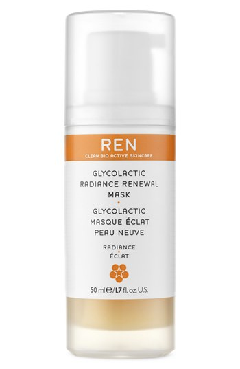 1. REN  Glycolactic Radiance Renewal Mask (This is by far one the best mask I've ever used. My skin is literally glowing after just a few minutes of washing it off. REN is worth every penny. I'veused this about twice a week and although I'm out of it right now, I definitely plan on replenishing.