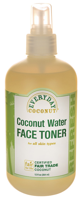 4.  Every Day Coconut Water Face Toner  (I stumbled across this one day in the Wegmans grocery store, and I'm so glad I did. This works really well for me; helping to adjust the PH balance in my skin after cleansing. It smells great and is very refreshing.)