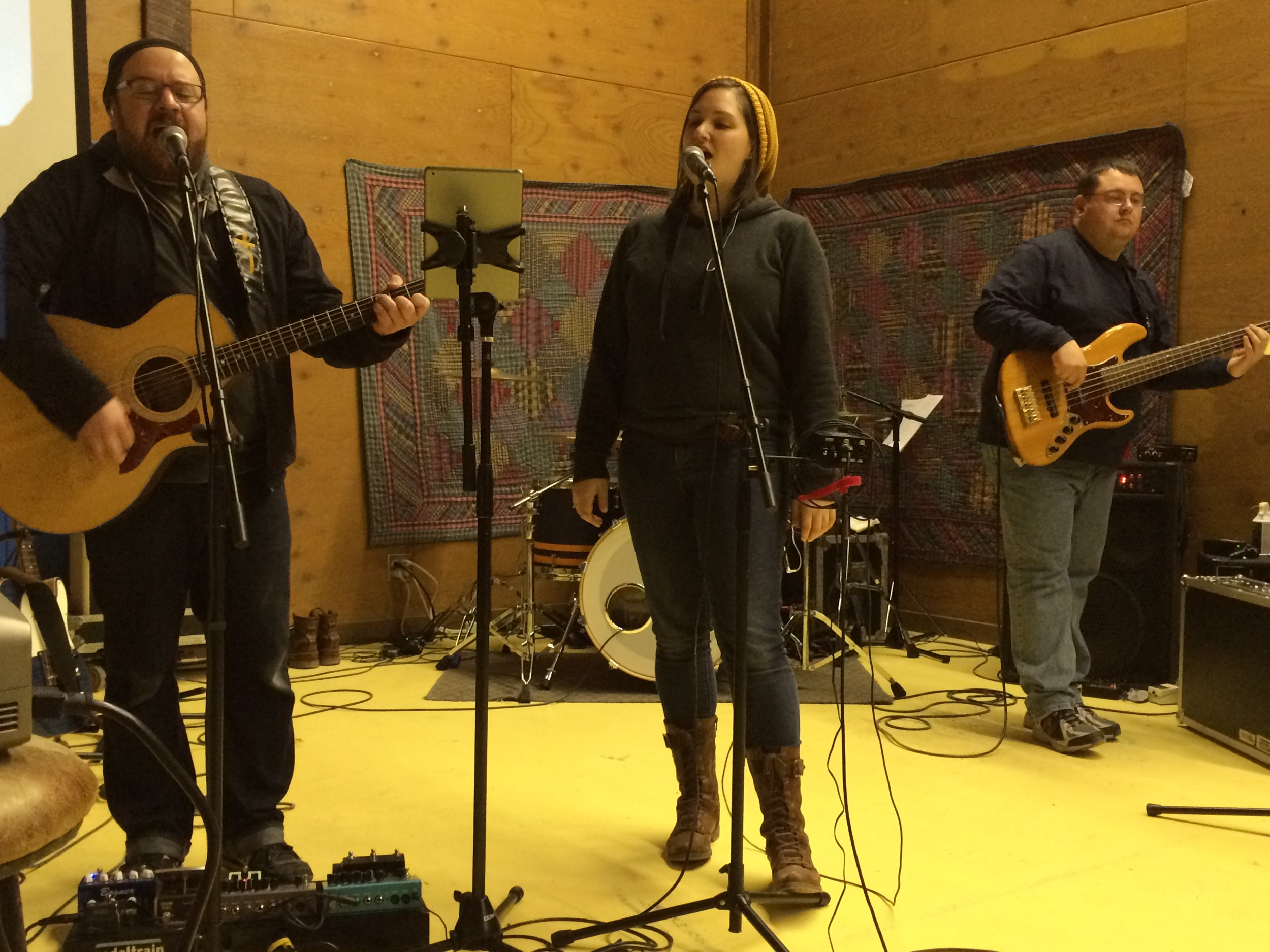 Photo by Kelly Lake   Worship Leading for a High School Retreat • February 2015   For Arlington United Church Youth Retreat, February 2015. Lead worship as lead female vocalist.