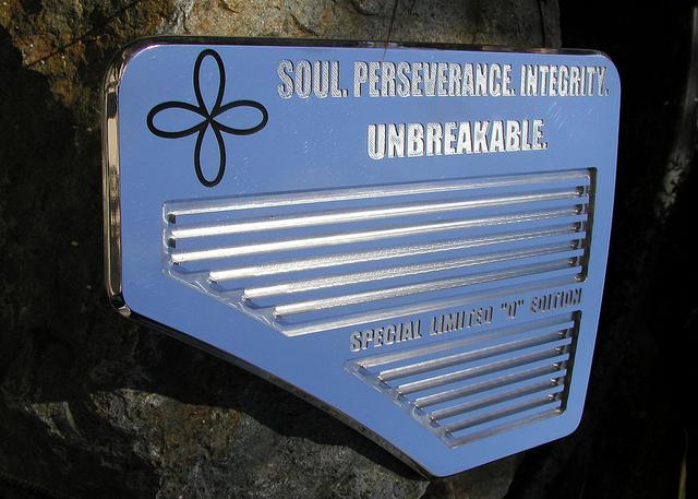 Soul. Perseverance. Integrity. Unbreakable.