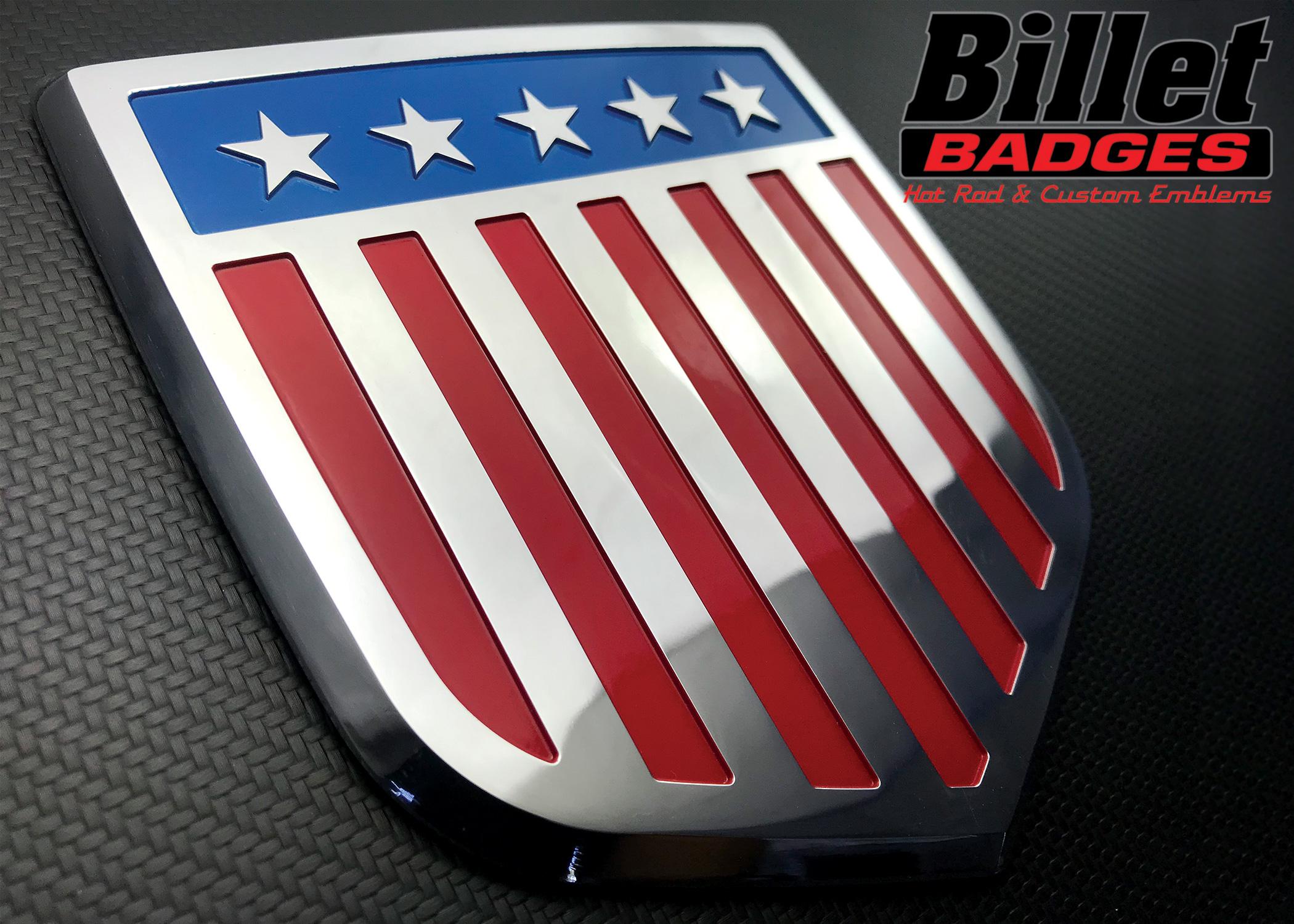 Dodge Shield-Shaped Billet Badges
