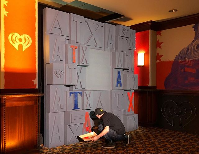 Final touches for the VIP Lonestar Room at #iheartcountry this weekend.