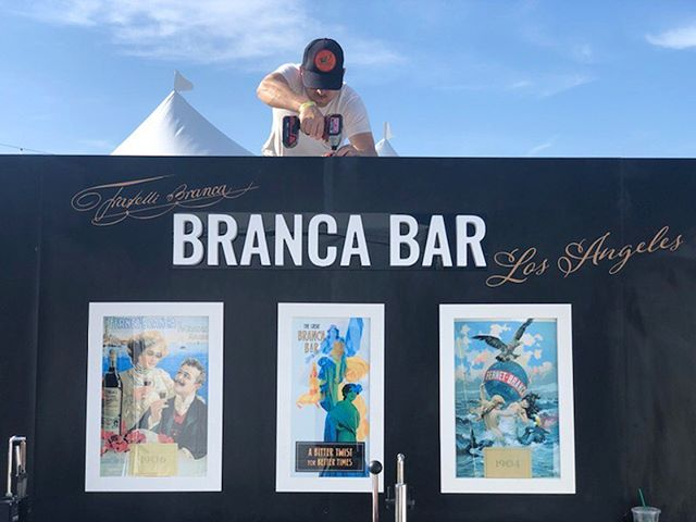 The @fernetbranca bar tour officially kicked off at @justlikeheavenfest last weekend, offering up $1 tastings, free bandannas, coasters and pins :: #brancabar at #justlikeheaven :: #fabrication partner & 📸 @zargosy