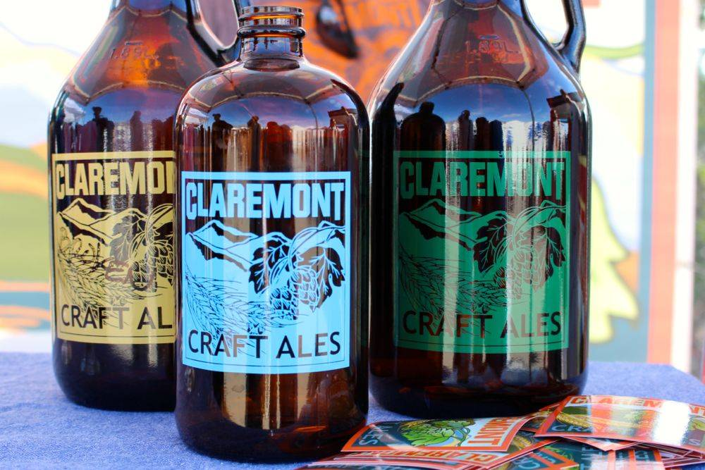 Claremont Craft Ales Growlers