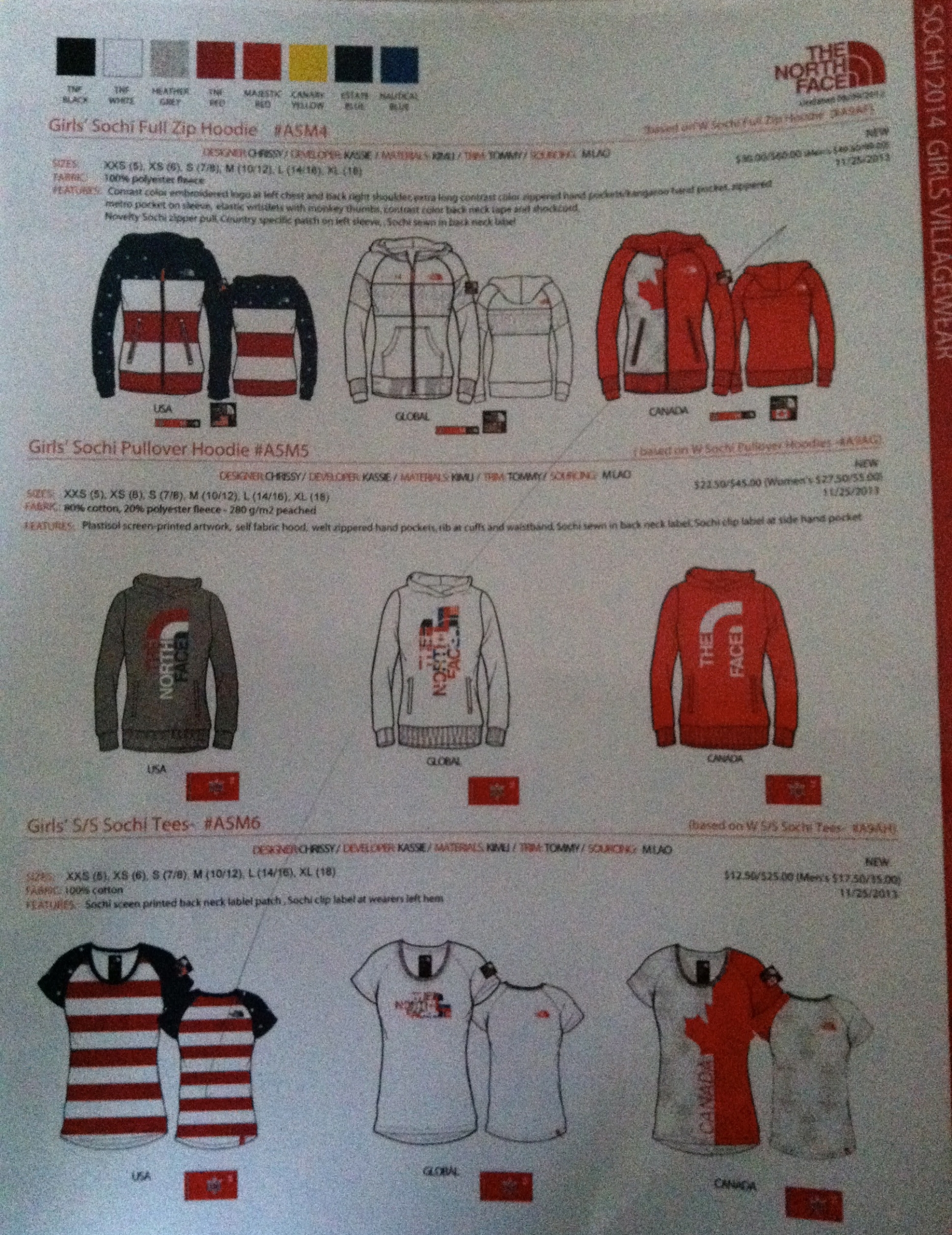 2014 OLYMPICS VILLAGEWEAR BY THE NORTH FACE