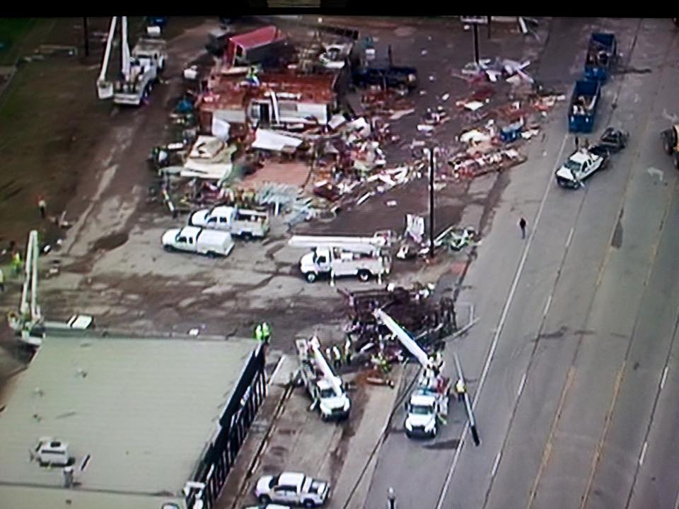 Damage for the possible tornado is Floresville