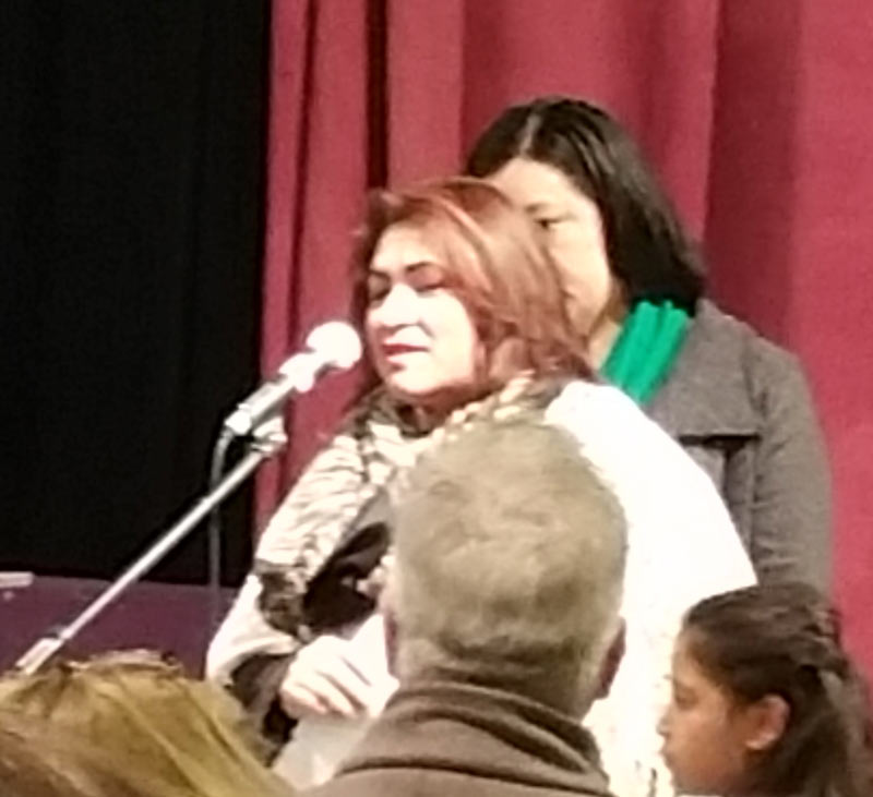 Guatemalan refugee sharing about her journey and now network connection as she now seeks asylum and resettlement in the U.S.
