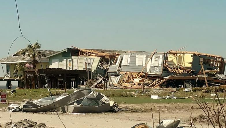 DESTROYED HOMES IN HOLIDAY BEACH