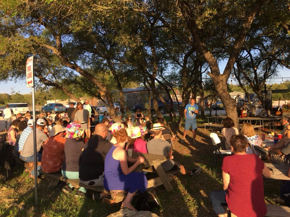 Maundy Thursday Communion by the Lake at Pace Bend Park.